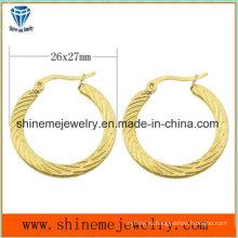 Shineme ювелирные изделия вакуумной Плакировкой золота серьги (ERS6918)