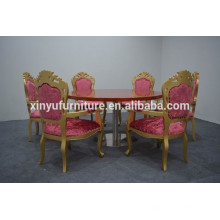 Europeanism style gold chairs and round dining table sets XYN1255