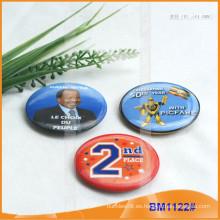 Insignia de botón redondo impreso personalizado con Pin seguro para la promoción BM1122