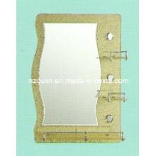 Miroir de salle de bain en verre d'épaisseur 5 mm en épaisseur (81002)