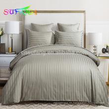 Ropa de cama / ropa de cama de hotel / juego de cama de raso blanco