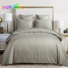 Постельное белье торговой марки /отель постельное белье/сатин белый полоска постельные принадлежности