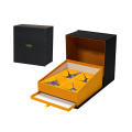 Custom Black Four Tea Bags Packaging Magnetic Box