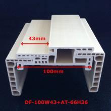 Chegada nova um perfil laminado bolso porta Df-100W43 da porta do PVC do quadro de porta do estilo WPC