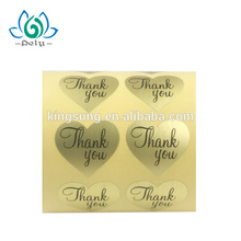 cheaper paper printing thank you sticker seal