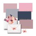 Danke Karten Blanko-Sets auf Leinenpapier, dekorative Umschläge und passende Geburtstage Aufkleber & Hochzeitskarte Design