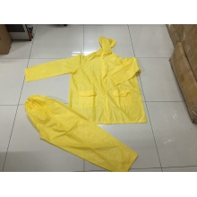 gula män Hooded Long Waterproof PVC Rainsuit