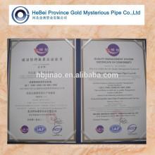 Jinao Hebei marca de alta precisão tubo de aço forma normal 15-80mm
