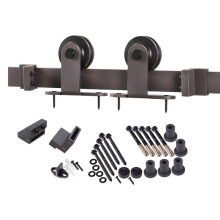 Rally sliding barn doors hardware, pulleys and track kits with install manual