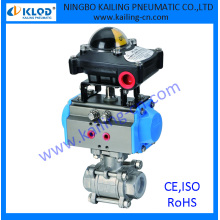 3 pcs ball valve/ controlled by pneumatic actuator