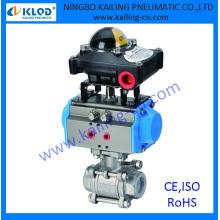 3 pcs ball valve/ controlled by pneumatic actuator