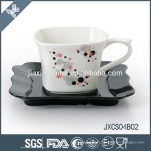 180CC ensemble de tasse en porcelaine, petite tasse avec un design de ruban