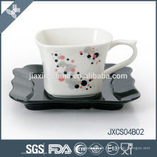 Jogo do copo da porcelana 180CC, copo pequeno ajustado com projeto da tira