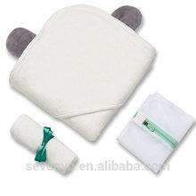 100% bébé bambou bébé serviette de bain à capuchon serviette à capuchon pour garçons et filles withbaer oreilles serviette de bain bébé prime