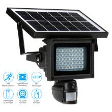 Solar powered CCTV IP PIR lamp HD cameras wireless with LED floodlight