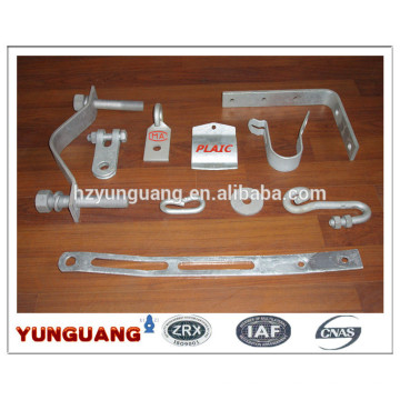 heavy duty angle bracket hot-dip galvanizing steel parts low voltage utility pole hardware fitting steel pressing hooks