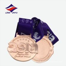 Exquisite bronze plated wholesale metal medal