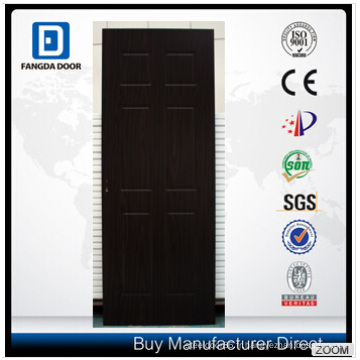 Porte en bois durable et abordable Fangda 6 panneau Design MDF PVC