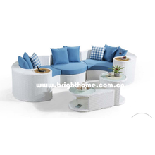 Musical Serie PE Rattan Wicker Outdoor Gartenmöbel Sofa Set Bp-873D