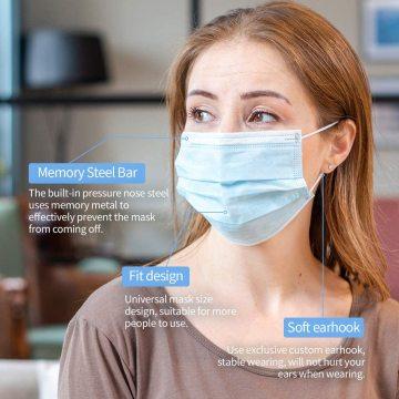Одноразовые маски для лица от пыли и пыльцы