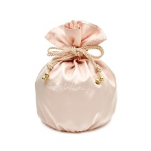 Cheap Silk Drawstring Satin Bag with Embroidered