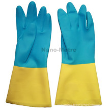NMSAFETY en388 long neoprene chemical latex safety gloves