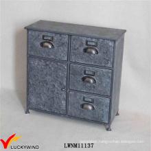 Art Antique Filing Cabinet in Vintage Metal