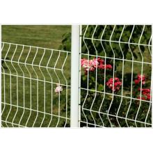 Clôture de jardin avec revêtement en PVC