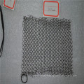 8*8inch Square stainless steel chainmail scrubber / cast iron cleaner cookware
