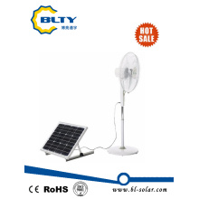 DC Ventilador de energía solar con control remoto y panel solar