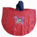 Poncho rouge durable