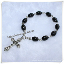 Classic Catholic Wooden Beads Finger Rosaries with Cross (IO-CE023)