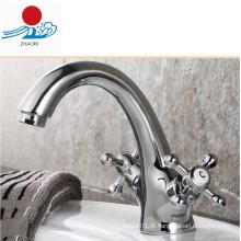 Robinet de lavabo de salle de bain à double poignée (ZR30300)