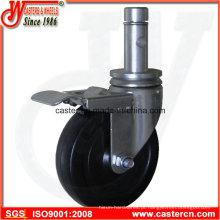 5 Inch Indoor Scaffold Caster com haste e anel redondo