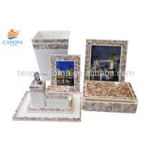 11 pcs Chinese freshwater MOP shell bathroom amenity