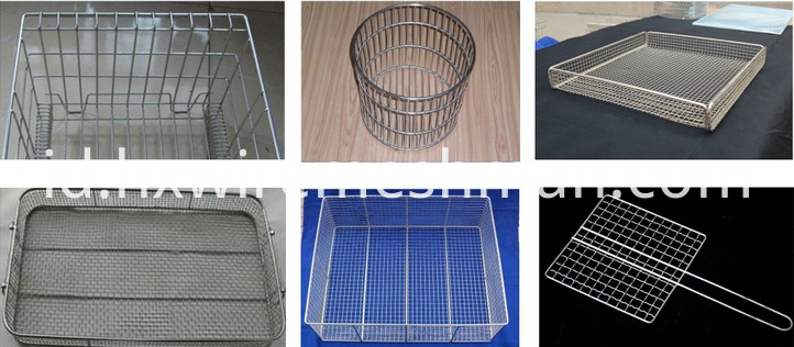 wire mesh basket and cage