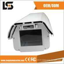 Pièce en aluminium de moulage mécanique sous pression autour du logement de télévision en circuit fermé du système IP66 de moniteur de vue
