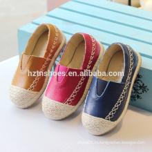 Мягкая детская обувь надеть повседневную обувь джутовые подошвы espadrille обувь