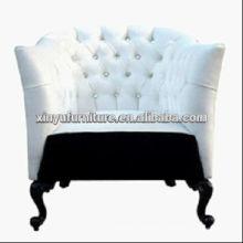 White classical carved singel sofa chair A10065