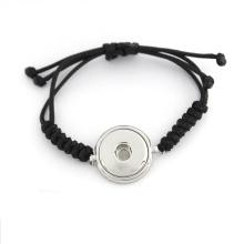 Bracelets à bouton-pression à base de gingembre interchangeables sur mesure avec corde tissée