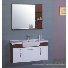Meubles de Cabinet de salle de bains de PVC 100cm (B-217)