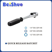 Rubber Handle Quick Release Ratchet of Socket Wrench