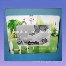 Grüner Baumentwurf keramischer Fotorahmen