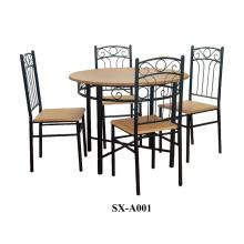 Ensemble de salle à manger à domicile / Set à manger en bois 5 pièces / table en bois avec 4 chaises