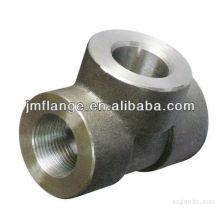 carbon steel high pressure threaded Tee