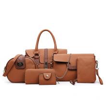 New Designs Four Seasons six-piece mother daughter handbag single shoulder stylish pu leather tote hand bag