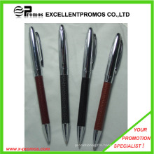 Promotional Heavy Metal Pen with Leather Barrel for Gift (EP-P7311)