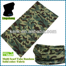 LSB38 Ningbo Lingshang polyester camo design used for sporting hot sale 24*48 cm seamless bandana