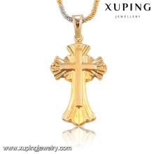 32668 Colgante religioso Xuping fashion gold sin piedra