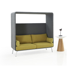 Office Leisure Sofa Seating High Back Office Phone Booth for Public Area